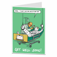 Get Well Soon Card For Men & Women Funny After Operation Surgery Illness