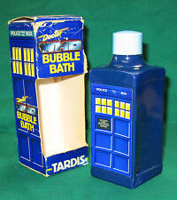 Rare: TARDIS bubble bath, box and bottle from 1987. Doctor Who.