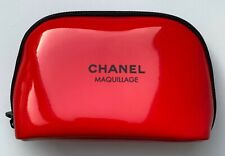 CHANEL COSMETIC/MAKEUP BAG POUCH CLUTCH RED SMALL VIP GIFT