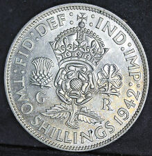 George VI 1942 Florin / Two Shillings, 0.500 silver aUNC
