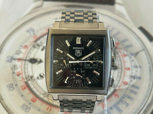 Boxed Tag Heuer Monaco CW2111-0 DK4016 with Original Metal Band and Box