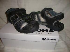 New Boy's Sonoma Fisherman Flexible Sandals - Style Gallop - Color Gray -