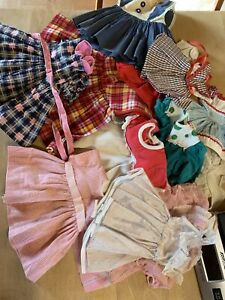 Surprise Lot Of 12 Vintage Doll Dresses-various Sizes And Styles