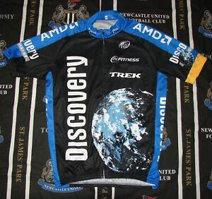 Trek Discovery Cycling Bike Jersey Shirt UCI Europe  Full Zip Tour Size XL