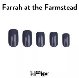 RED ASPEN Reusable Pop On Nail Dashes Medium Square Shiny Farrah Farmstead 24