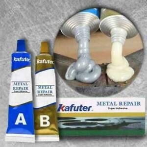 UK Industrial Heat Resistance Cold Weld Metal Repair Paste Adhesive A&B Gel Kit
