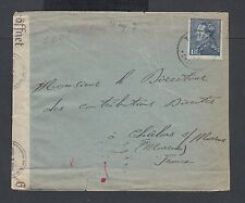 BELGIUM 1941 WWII CENSORED COVER TAMIN TO CHALONS FRANCE
