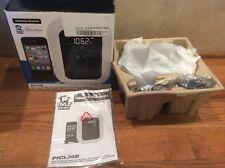 Pyle PICL36B Clock Radio iPod/iPhone Dock, FM Radio, AUX Input iPhone 3G 4S