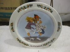 Sarah Stilwell Weber Calendar Collection September Collectible Plate 1984 #3981