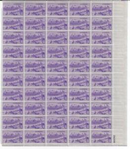 US SCOTT 994 PANE OF 50 KANSAS CITY MISSOURI STAMPS 3 CENT FACE MNH
