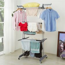 Big Large Clothes Airer 3Tier Indoor Outdoor Laundry Dryer Rack Line Foldable UK
