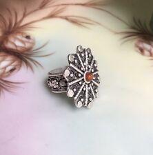 Vintage Yemenite Silver Filigree Starflake Ring (Yemen)