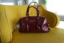 Coach Ashley Red Patent Leather Satchel Bag