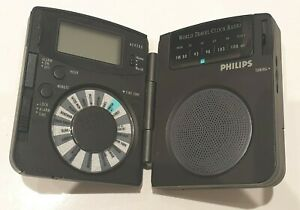 Philips AE4200 Mini Travelling World Clock Portable Radio In Working Order /Case