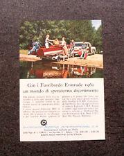 L917- Advertising Pubblicità -1960- MOTORI FUORIBORDO EVINRUDE 1960