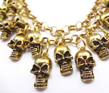 MASONIC GOLD PLATED SKULL WATCH FOB/PENDANT