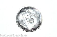 """1 BOUTON original du créateur BICHE DE BERE métal """" chiffre 5 """" 12mm button"""
