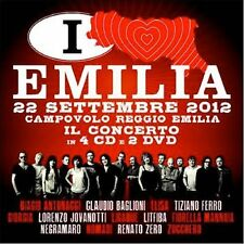 ITALIA LOVES EMILIA COFANETTO 4 CD+2DVD+POSTER NUOVO SIGILLATO !!