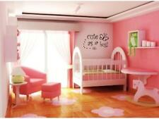 CUTE AS A BUG  Wall Decal Baby Kids Room Nursery Girl Words Lettering Decor