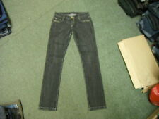 "Jolina Skinny Jeans Waist 30"" Leg 34"" Black Faded Ladies Jeans"