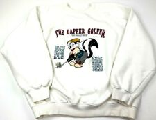 Pepe Le Pew Acme Clothing Sweatshirt White Looney Tunes Long Sleeve Vintage M