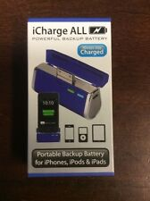 Triple C iCharge ALL iPhone iPad iPod Charger Battery Pack Lake Blue
