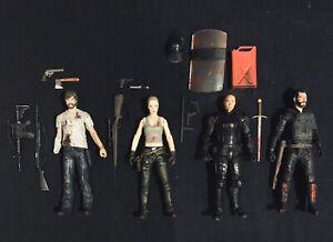 """Mcfarlane Walking Dead 4 Pack. Comic Series. Loose Figures. 5"""""""
