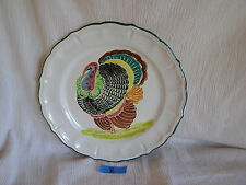 Vintage Italian Handpainted Turkey Large Plate Dish Platter Charger Made Italy b