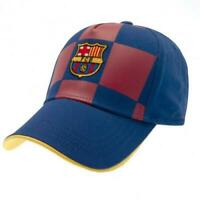 Official FC BARCELONA Checked Baseball Cap HAT