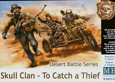 Masterbox 1:35 Skull Clan - To Catch A Thief M/Cycle Sidecar & Figures Model Kit