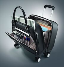Carry On Luggage Samsonite Womens Spinner Mobile Office Black Wheeled Briefcase