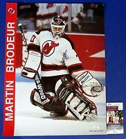 MARTIN BRODEUR SIGNED 17x22 POSTER ~ NJ Devils Hockey NHL ~ JSA KK24700