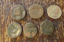 "Tiberius Caesar ""TI CA"" Augustus AE Countermark very rare anicent #5 coins!"