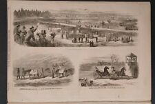 Frank Leslie's Illustrated 6/24/1865   Pres Grant   Trotting at Fashion Long Is.