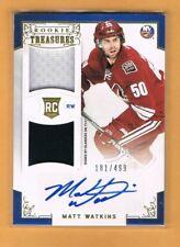 2012-13 Rookie Anthology Matt Watkins Autograph Rookie Jersey /499 Islanders