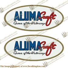 """ALUMACRAFT """"QUEEN OF THE WATERWAYS"""" OVAL BOAT DECALS (SET OF 2) 3M Marine Grade"""