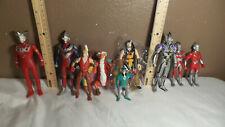Mixed Action Figures Toy lot Ultraman , Niddler , Riddler, 9 Figures
