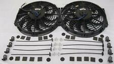 """Dual 12"""" Curved S-Blade Universal Electric Radiator Cooling Fans w/ Mounting Kit"""