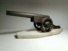 Vecchio cannone modello fatto a mano in ferro prima guerra mondiale coevo