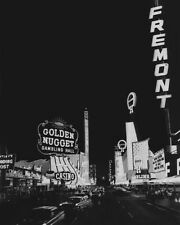 1968 DOWNTOWN LAS VEGAS Glossy 8x10 Photo Casinos Print Golden Nugget Poster