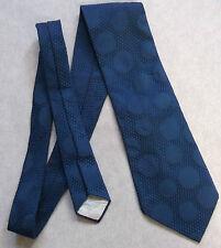 BURTON VINTAGE WIDE TIE RETRO 1970s MOD DARK NAVY BLUE POLKA DOT SPOTTY PATTERN