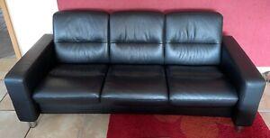 Stressless 3-Sitzer Sofa Couch echt Leder mit Relaxfunktion Neuwertig