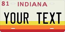 Indiana 1981 license plate Tag Personalized Auto Car Custom VEHICLE OR MOPED