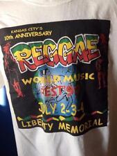 Vintage Kansas City 10th Anniversary Reggae Fest 1999 Liberty Memorial TShirt XL