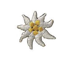 Edelweiss Edelwei�Ÿ Blüte 05 Trachten Aufnäher Aufbügler Patch Applikation #9412