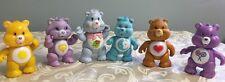 Vintage Lot Care Bear Plastic Pvc Characters Cousins 1980's Heart Moon Sunshine