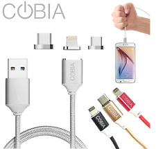 Magnetic Charging Cable for iPhone Samsung Type-C Lightning Data Transfer MAG-2