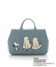Samantha Thavasa PEANUTS SNOOPY Tote Bag Shoulder Purse Pouch Set Aqua Blue NEW