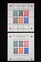 Poland 1945 Red Cross Souvenir Stamp Sheets