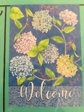 "Small 12 1/2"" x 18"" Spring Summer Floral Theme Garden Art Flag New"